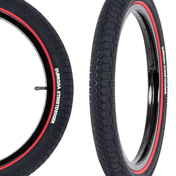 Subrosa Street Digger tires red speedwall