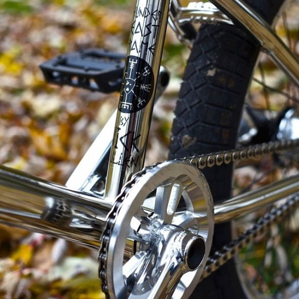 Subrosa Magnum sprocket polished silver mounted